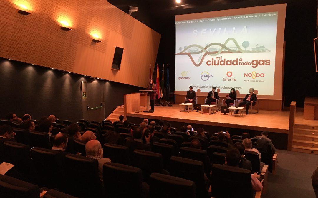 miciudadatodogas presenta las ventajas del gas verde como aliado para la descarbonización del transporte en Sevilla