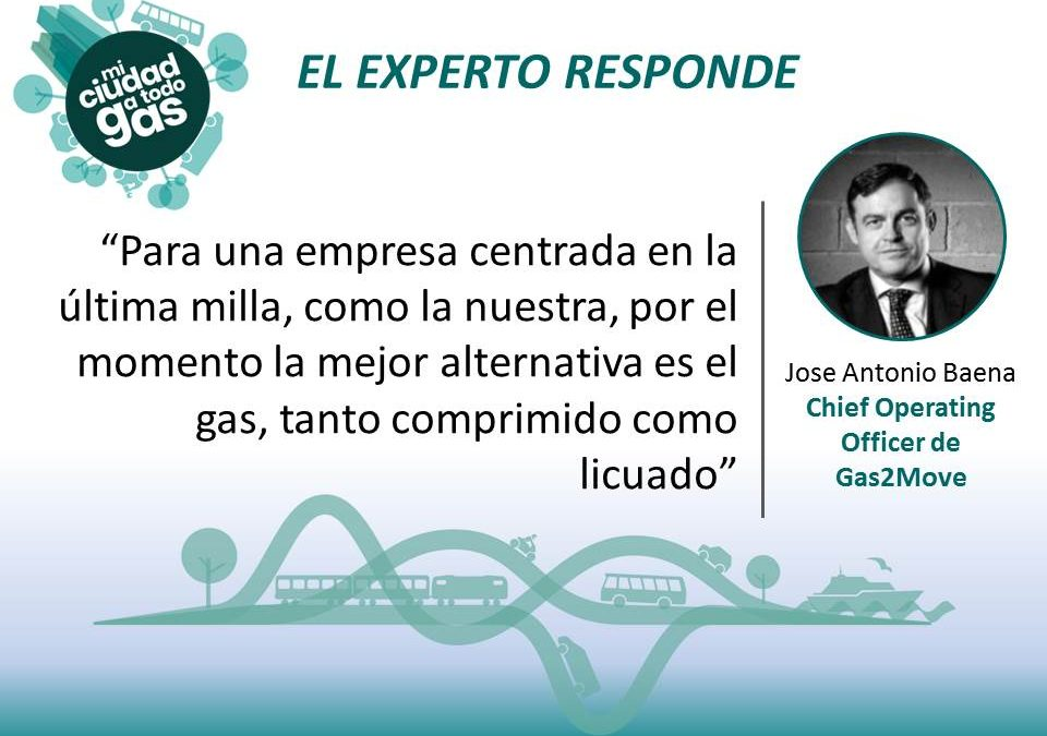 EL EXPERTO RESPONDE: José Antonio Baena, Chief Operating Officer de Gas2Move