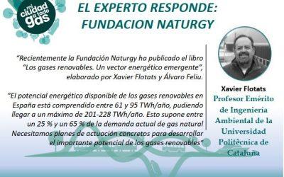 LA FUNDACION NATURGY RESPONDE:  Xavier Flotats, Profesor Emérito de Ingeniería Ambiental de la Universidad Politécnica de Cataluña
