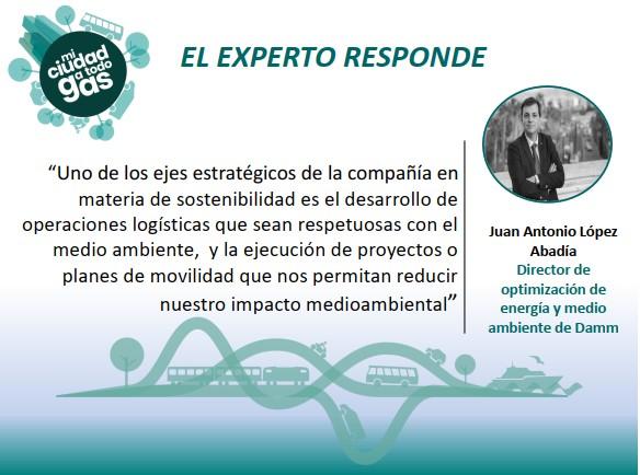 DAMM RESPONDE:  Juan Antonio López Abadía, Director de optimización de energía y medio ambiente