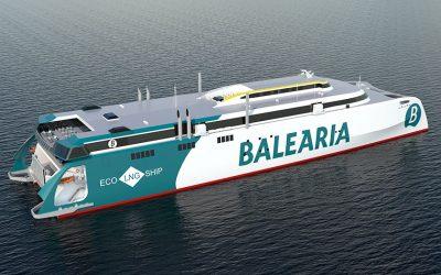 """El primer buque de """"alta velocidad"""" del mundo con motores a Gas Natural navegará en España"""