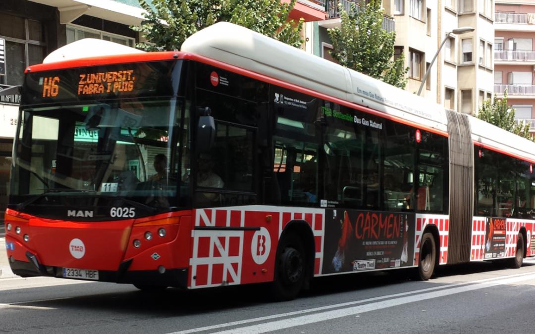 Barcelona tendrá autobuses articulados híbridos de gas natural comprimido