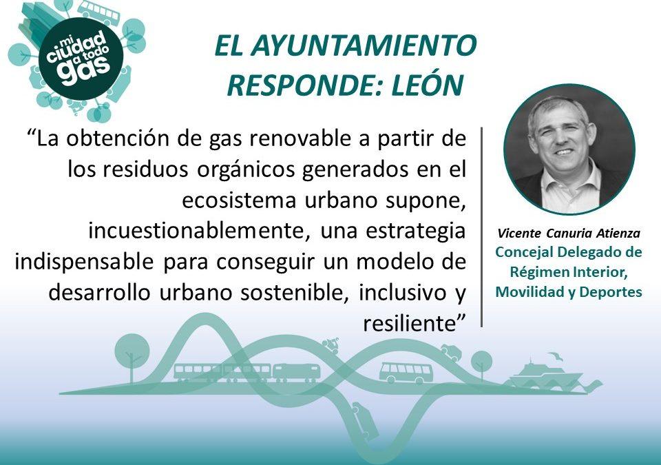 EL AYUNTAMIENTO RESPONDE: Entrevista a Vicente Canuria Atienza, Concejal Delegado de Régimen Interior, Movilidad y Deportes del Ayuntamiento de León
