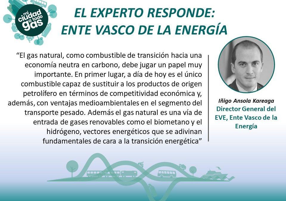 EL EXPERTO RESPONDE: Iñigo Ansola Kareaga Director General del EVE, Ente Vasco de la Energía