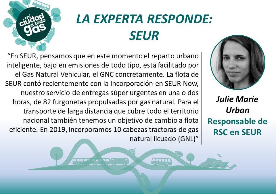 LA EXPERTA RESPONDE: Julie Marie Urban, Responsable de RSC en SEUR