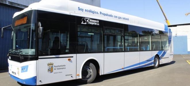Salamanca incorpora cinco nuevos autobuses a Gas Natural Comprimido