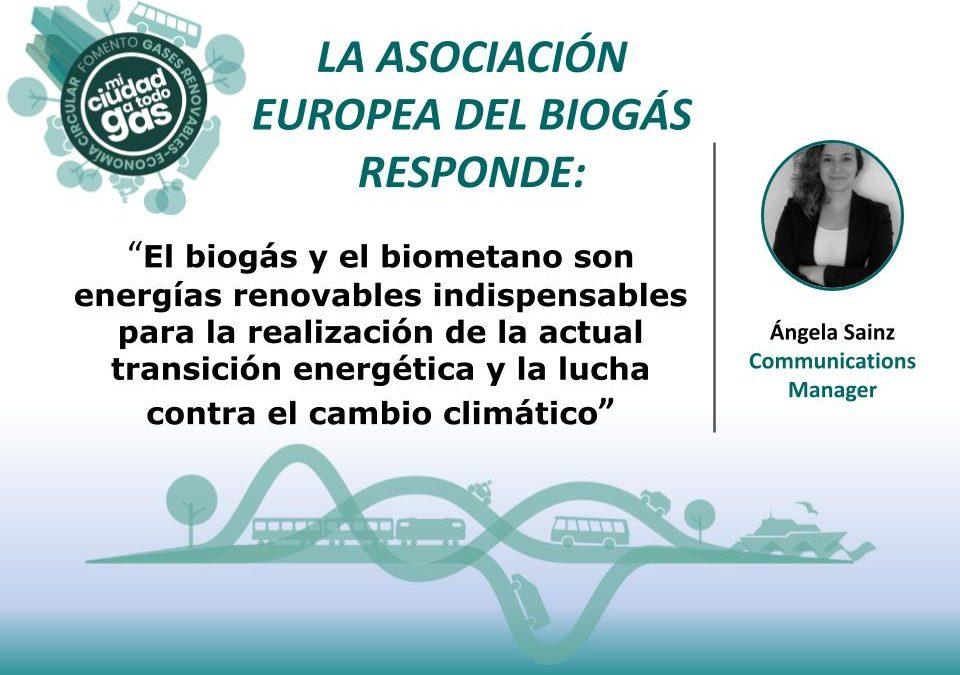 LA ASOCIACIÓN EUROPEA DEL BIOGÁS RESPONDE: Ángela Sainz, Communications Manager